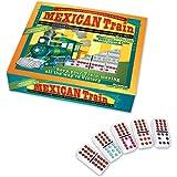 Mexican Train Dominoes with Electric Choo Choo Train Whistle ~ Puremco