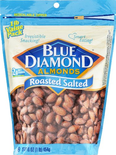 Blue Diamond Almonds Roasted Salted, 16 Oz (Pack Of 6)