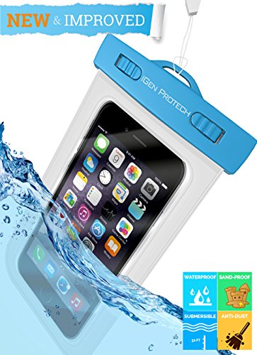 Universal Waterproof iPhone Case - Snowproof, Waterproof iPhone 6 Case, Dirtproof Cover Bag For iPhone 6 Plus Waterproof Case 5.5, IPX8 Certified Up To 9ft- Best Floating Waterproof Casing