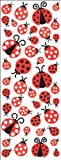 Puffy Classic Stickers-Ladybugs