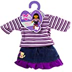 Butterflies™ Striped Shirt and Skirt Doll Outfit