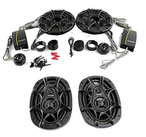 """2) Kicker Ds62 6"""" 240W 2-Way Car Components + 2) 6X9"""" 280W 3-Way Car Speakers"""