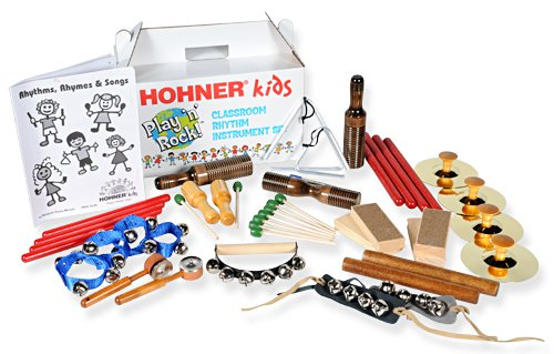 Hohner Kids Multi-Timber Rhythm Instrument Package for 25 Players