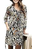 Ladies Plus UK Size 20 - 38 Black Orange Long Tunic Top with Pockets 24 eu 50