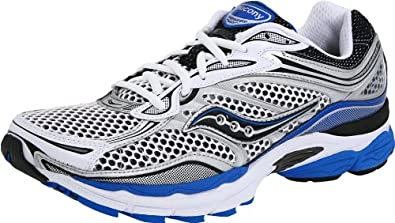 Saucony Men's ProGrid Omni 9 Running Shoe,White/Silver/Royal,10.5 M US
