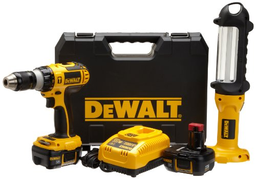 DEWALT DCD775KL-F 18-Volt Lithium-Ion Hammer-Drill and Area Light Combo Kit
