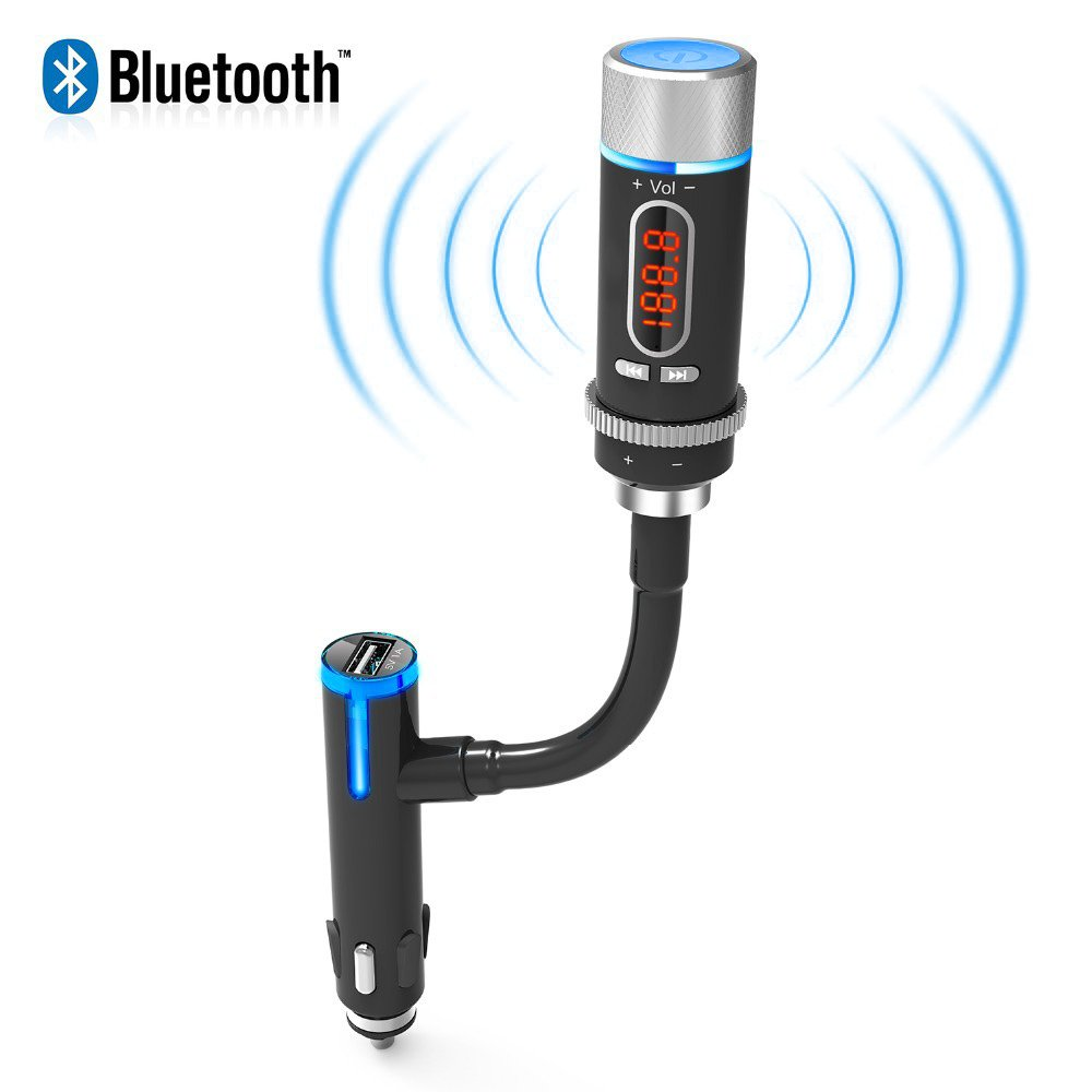 akaso wireless bluetooth fm transmitter radio adapter. Black Bedroom Furniture Sets. Home Design Ideas