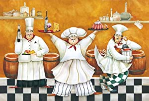 Placemat w/Chefs Design, Set of 4