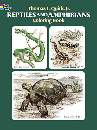 Reptiles and Amphibians Coloring Book (Dover Nature Coloring Book)