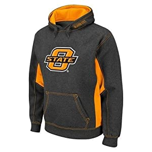 NCAA Oklahoma State Cowboys Turf Fleece Pullover Hoodie - Charcoal Orange by Colosseum