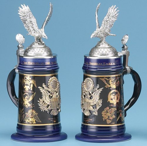 Sale - The Perfect Holiday Gift - History of American Eagle Stein - Limited Edition - Magnificent !