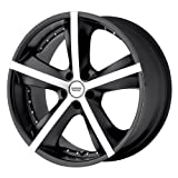 American Racing Phantom (Series AR882) Matte Black Machined - 17 X 7.5 Inch Wheel