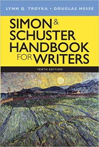 book cover: simon and schuster handbook for writers