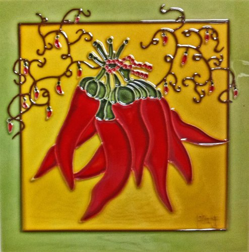 Red Pepper Ceramic Art Tile