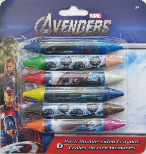 Marvel Avengers 6 Double Sided Crayons