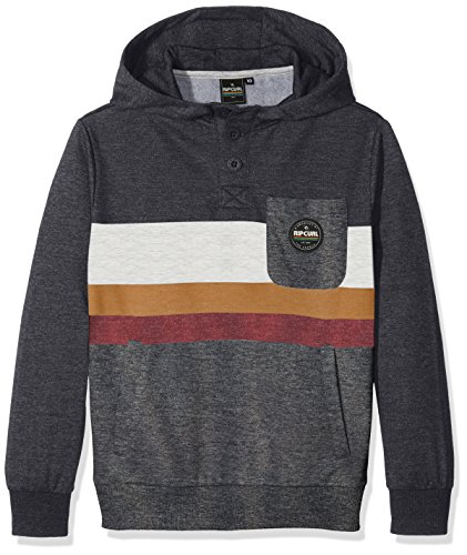 Rip Curl Crocker Hooded Fleece Felpa, Dark Marle, 10
