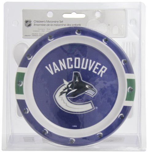 First Time Fan FTF5PCDINVAN-X Vancouver Canucks Dinner Set, 5-Piece