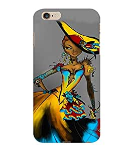 ColourCraft Stylish Girl Design Back Case Cover for APPLE IPHONE 6 PLUS
