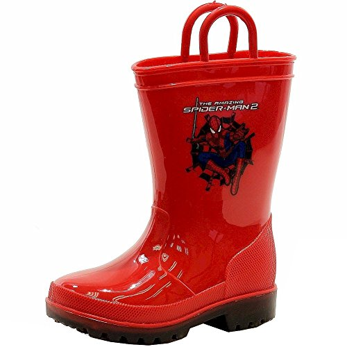 The Amazing Spiderman 2 Boy's SPF505 Fashion Red Rain Boots Shoes
