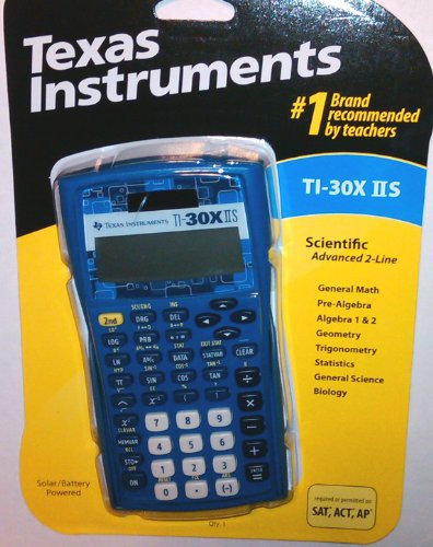 Texas Instruments TI-30X IIS 2-Line Scientific Calculator [Rare Blue Color]