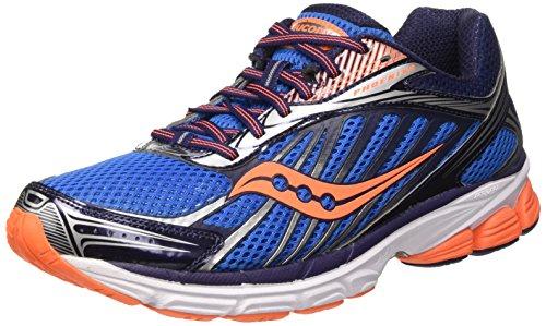 Saucony Phoenix 8 Scarpe da corsa, Uomo, Multicolore (Blue/Orange/Silverpa), 43