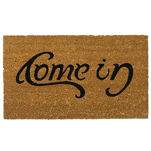 """Rubber-Cal """"Come In"""" Welcome Doormat Coir Doormat, 18 x 30-Inch"""