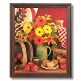 Country Apples Flowers Kitchen Cafe Diner Home Decor Wall Picture Cherry Framed Art Print