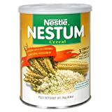 Nestle Nestum, Wheat, Rice and Corn Cereal, 8.8-Ounce Canisters (Pack of 6)