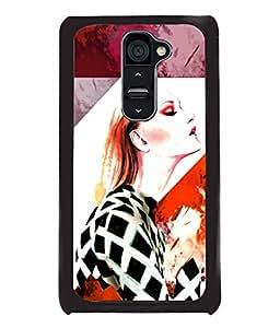 Fuson Style Girl Back Case Cover for LG G2 - D4020