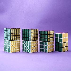 JohnsDollarStore 2x2x2 3x3x3 4x4x4 5x5x5 Cube Puzzle White