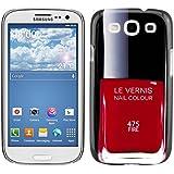 kwmobile® Hardcase mit Nagellack Design für Samsung Galaxy S3 i9300 / S3 Neo i9301 in Rot Schwarz