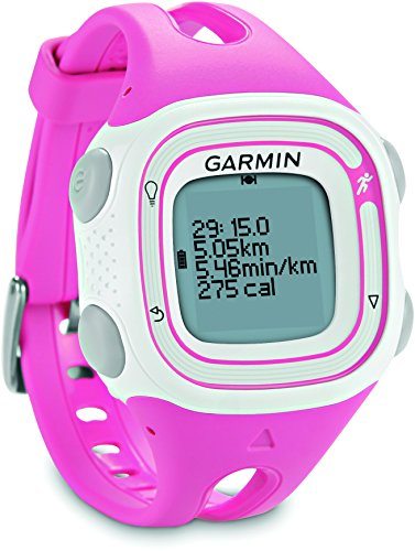 Garmin Forerunner 10 - Reloj GPS para fitness, blanco y rosa