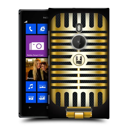 Head Case Designs Gold Pop Vintage Microphones Hard Back Case Cover For Nokia Lumia 925 Rm-892