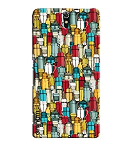 Omnam Different Kettle Printed Pattern Printed Designer Back Cover Case For Sony Xperia C5