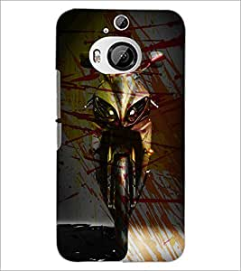 PrintDhaba Bike D-3894 Back Case Cover for HTC ONE M9 PLUS (Multi-Coloured)