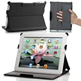 MoKo Slim-Fit Folio Stand Case for Apple New iPad 4 & 3 (3rd and 4th Generation with Retina Display) / IPad 2, Black
