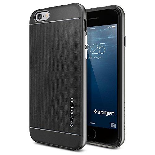 iPhone6 ケース, Spigen® [ 二重構造 スリム フィット ] Apple iPhone 4.7 (2014) ネオ・ハイブリッド The New iPhone アイフォン6 (国内正規品) (ガンメタル SGP11031)