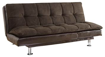 Coaster Home Furnishings 300313 Contemporary Sofa Bed, Brown/Brown