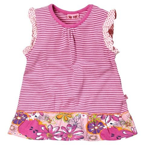 Me Too Girls Flowers & Dots Tunic Top (Sesilje Mini Almond Blossom)