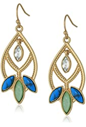 "NINE WEST VINTAGE AMERICA ""Aqua Verde"" Drop Earrings"