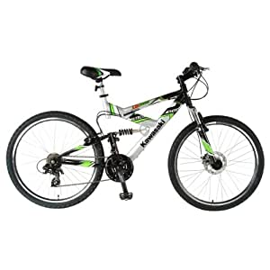 Kawasaki DX226FS Dual Suspension Bike (Silver/Black, 26 X 19-Inch)