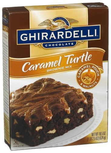 Ghirardelli Chocolate Caramel Turtle Brownie Mix, 18.5-Ounce Boxes (Pack of 12)