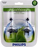 Philips H7 EcoVision Headlight Bulb, Pack of 2