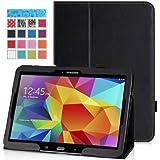 MoKo Etui Samsung GALAXY Tab 4 10.1 - Etui fin et pliable pour Tablette Samsung GALAXY Tab 4 de 10.1 Pouces, NOIR (Avec couverture intelligente réveil/sommeil automatique )
