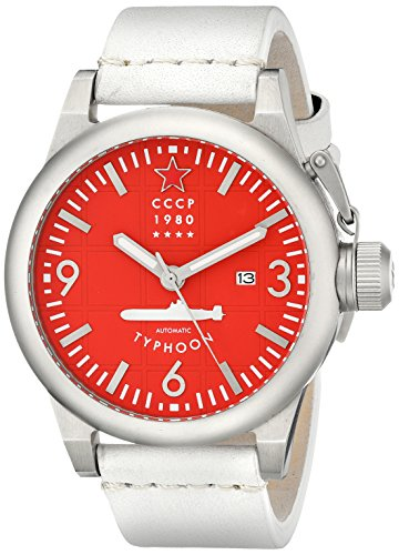 CCCP Men's CP-7018-06 Typhoon Analog Display Japanese Automatic White Watch