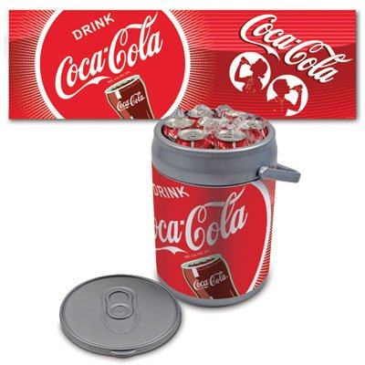Coca-Cola Can Shaped Cooler And Seat: Unique Insulated Beverage Carrier front-496072