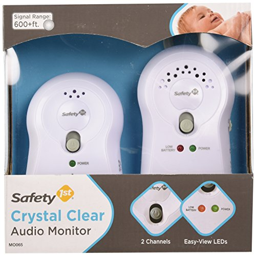 Safety 1st Crystal Clear Audio Monitor, White