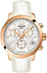 Tissot Unisex T0954173611700 Quickster Classic Chronograph Analog Display White Watch