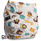"LittleBloom, Reusable Pocket Cloth Nappy, Fastener: Velcro, Set of 1, Pattern 41, Without Insert, (see ""Special Offers and Product Promotions"" for Special Offers Detail)"