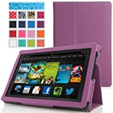 MoKo Amazon All New Kindle Fire HD 7 Case - Slim Folding Case for All New Fire HD 7.0 Inch 2013 Gen Tablet, PURPLE (With Smart Cover Auto Wake / Sleep. WILL NOT Fit 2012 Fire HD 7 and 2013 Fire HDX 7)